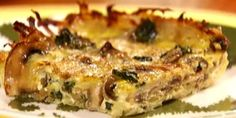 Mushroom and spinach quiche - healthy