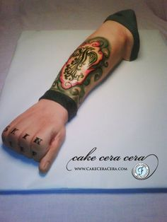Tattoo Cake  by Cake Cera Cera www.CakeCeraCera.com