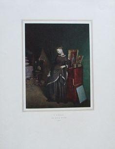 FEDOROW DIE JUNGE WITWE Reproduktion Kunstdruck Staatliche Russische Museum 1952