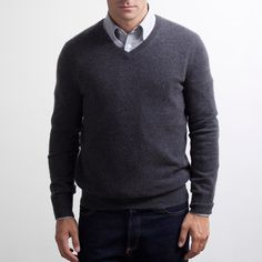 Everlane - The Men's Cashmere V $120. #gifteverlane