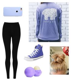 """""""Comfy Periwinkle"""" by theexpoditioner on Polyvore featuring M&S Collection, Converse, Eos, women's clothing, women's fashion, women, female, woman, misses and juniors"""