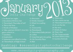 January 2013 www.serendipity-photography.us Insta-Challenge <3
