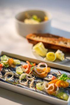 Sardine escabèche aus der Bretagne, geröstetes Landbrot, beurre salé
