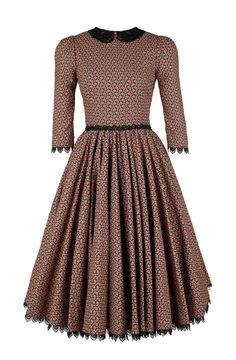 830fdebbe8b7 Lena Hoschek - Natasha Dress Long in mini paisley red - Autumn Winter  2013 14