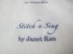 Stitch n Sing: Making your own fabric labels tutorial