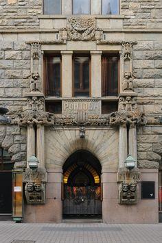 Door of Pohjola Insurance Building - Eliel Saarinen, Art Deco, Art Nouveau, Greek Islands, Helsinki, Doorway, Windows And Doors, Architecture Details, Monuments, Gates