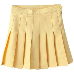 Choies Yellow Pleated Mini Skirt (224.645 IDR) ❤ liked on Polyvore featuring skirts, mini skirts, bottoms, yellow, clothes - skirts, beige mini skirt, pleated skirt, pleated mini skirt, short pleated skirt and yellow mini skirt