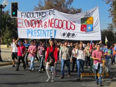 Manifestação estudantil Santiago Chile