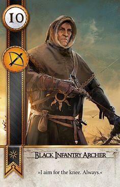 Black Infantry Archer (Gwent Card) - The Witcher 3: Wild Hunt