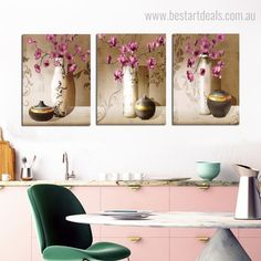 If you're looking for a statement art set for your dining room space then these canvas prints are perfect ones. #wallart #digitalartists #interiordecor #paintingprint 3 Piece Canvas Art, Canvas Art Prints, Online Art Store, Contemporary Frames, Home Decor Paintings, Living Room Pictures, Rooms Home Decor, Red Flowers, Wall Art Decor