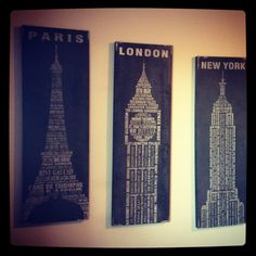 Pier 1 Paris, London and New York Wall Decor
