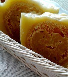 """Купить Натуральное мыло-мочалка """"O sole mio"""" - желтый, мыло, мыло-скраб"""
