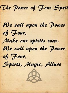 charmed spells | The Power of Four Spell replaced the power of three spell when Prue ...