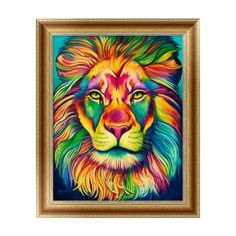 New Arrival 2017 3D Diy Mosaic Square Diamond Embroidery 5D Painting Cross Stitch Lion Partial Drill Resin Pattern Rhinestones #Affiliate