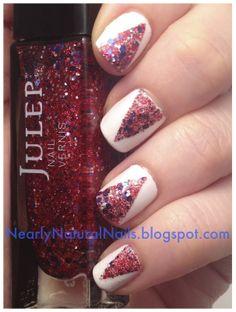 natural nails | Nearly Natural Nails: Lazy Days of Summer Nail Challenge - 3. Flag Day ...