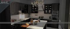 Konyha / Kitchen design. Nettfront - A63/p Erezett matt fekete front