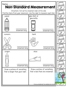 this is such a handy recording sheet for measurement with objects from the classroom this. Black Bedroom Furniture Sets. Home Design Ideas