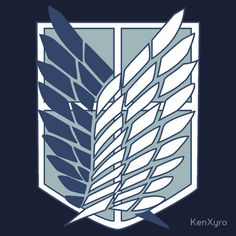 Shingeki No Kyojin (Attack on Titan) Survey Corps Logo/Symbol / Male & Female Styles / Colour Choices / www.redbubble.com / Available as T-Shirts & Hoodies, Stickers, Home Decors, Tote Bags, Prints, and Cards