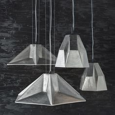 Gem pendanty lights from Tom Dixon's Rough & Smooth collection. GIMMIE GIMMIE GIMMIE!!!