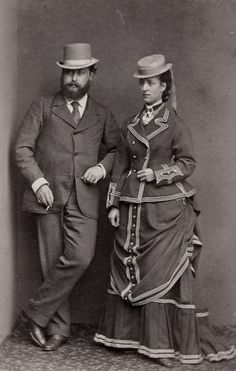 The Prince and Princess of Wales. (King Edward Vll and Queen Alexandra after the death of Queen Victoria. Queen Victoria Family, Queen Victoria Prince Albert, Victoria And Albert, Princess Victoria, Princess Louise, Prince And Princess, Princess Of Wales, 1870s Fashion, Victorian Fashion