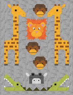Jungle Friends Quilt Pattern PDF Instant par SewFreshQuilts sur Etsy