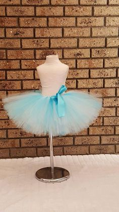 Winter Blue  Tea length Tutu Skirt   by FunkidsandUsBoutique