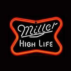 "17""x14""Miller High Life Logo Real Glass Neon Beer Bar Pub Gameroom Light Sign T6 | eBay"