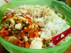 Veg-All Casserole, add the vegetables, celery, onion and water chestnuts.