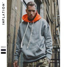 Cheap men hoodies sweatshirts, Buy Quality sweatshirt hip hop directly from China sweatshirt fashion Suppliers: INFLATION 2017 Man Contrast Color Drop-shoulder Hoodies Sweatshirts Hip Hop Streetwear Fashion Men  Hoodie Sweatshirt  163W17
