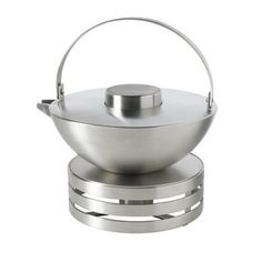 stainless steel circle teapot