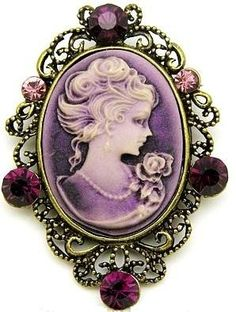 Purple Cameo  I HAVE SEVERAL CAMEO BEAUTIES, TIMELESS CLASSIC...NONE TO MATCH THIS BEAUTY!