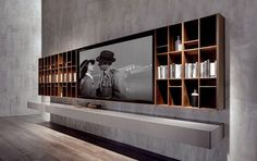 The Perfect TV Wall Ideas That Will Not Sacrifice Your Look - 00 - Modern tv wall units Tv Cabinet Design, Tv Wall Design, Living Room Wall Units, Living Room Designs, Accent Walls In Living Room, Pallet Accent Wall, Stone Fireplace Wall, Perfect Tv, Perfect Place