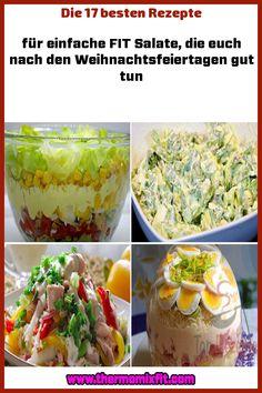 Die 17 besten Rezepte für einfache FIT Salate die euch nach den Weihnachtsfeiertagen gut tun Guacamole, Mexican, Ethnic Recipes, Fitness, Food, Salads, Red Beans, Christmas Holidays, Side Dishes