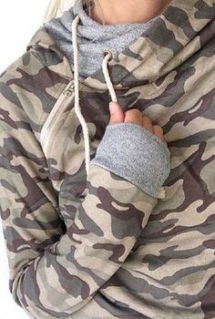 Double Hooded Sweatshirt - Camo {exlusively ours!} – Mindy Mae's Market