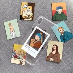 Oil Painting Card Clear TPU iPhone Case - Retail Package: No Type: Fitted Case Features: Art Oil painting card tpu case Function: Dirt-resist - Art Oil, Art Painting, Art Painting Oil, Art Case, Aesthetic Painting, Sketch Book, Card Art, Famous Art, Aesthetic Art
