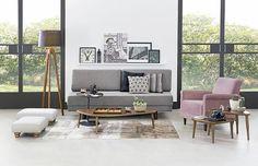 Tok&Stok Estar O sofá-cama pode transformar a sala de estar em um ocasional quarto de hóspedes.