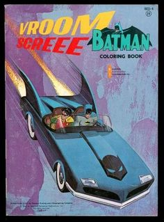 Batman Coloring Book 1833 4 9 2 Near Mint 1966 White Paper High Grade