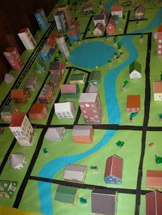 """What a cool project for mapping / """"bird's eye view""""... the kids would love constructing this! This would be a great project for communities."""