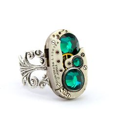 SteamPunk Ring. LondonParticulars@etsy