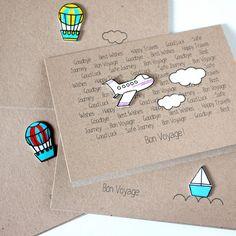 Handmade Bon Voyage Card // Goodbye Card // by LittleSilverleaf