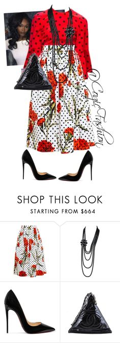 """""""Sunday Morning"""" by cogic-fashion ❤ liked on Polyvore featuring Dolce&Gabbana, Chanel and Christian Louboutin"""