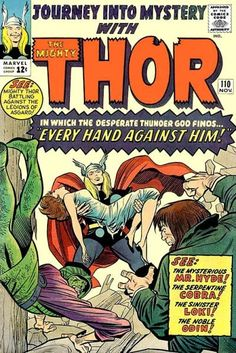 Journey Into Mystery #110. Thor vs Mr Hyde and the Cobra.