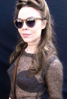Ulyana Sergeenko wearing a bullet bra like a winner