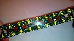Green bracelet. DIY. Браслет на основе квардратного жгута