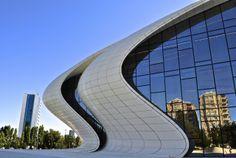 Heydar Aliyev Cultural Centre Cultural Center, Zaha Hadid, Beautiful Buildings, Capital City, Skyscraper, Multi Story Building, Architecture, World, Centre