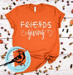 Friendsgiving svg cut file, Friendsgiving svg, Friends Thanksgiving svg, t-shirt svg Friends Thanksgiving Episodes, Kids Thanksgiving Shirts, Fall Shirts, Kids Shirts, Tee Shirts, Homemade Shirts, Vacation Shirts, Making Ideas, Friendsgiving Ideas