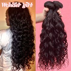 7a Raw Indian Hair Bundles Indian Virgin Hair Natural Wave 3 Bundles Wet And Wavy Human Hair Bundles Wonder Girl Hair Products