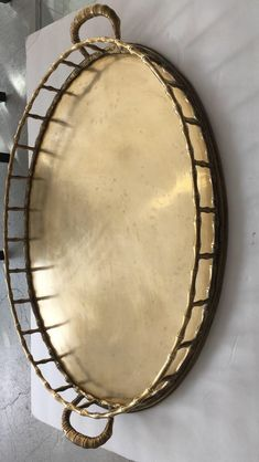 Large Brass Faux Bamboo Oval Tray - Gucci Style on Chairish Faux Bamboo, Gucci Fashion, Solid Brass, Decorative Items, Tray, Style, Swag, Decorative Objects, Trays