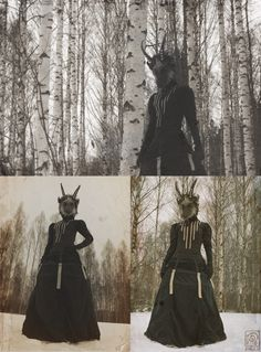 """nymla: """" Encounter in the woods. Photography by: Evelina Wallin Model, clothes & mask-masker, photoediting: Nymla [Sold!] …Behind the scenes """"bloopers"""" photos available to all patrons on my Patreon page, HERE! Woods Photography, Artistic Photography, Goat Mask, Art Inspiration Drawing, Writing Inspiration, Armor Clothing, Fantasy Art Landscapes, New Fantasy, Abstract Line Art"""