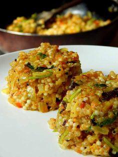 sabudana khichdi recipe http://www.therecipebucket.com/sabudana-khichdi-recipe/
